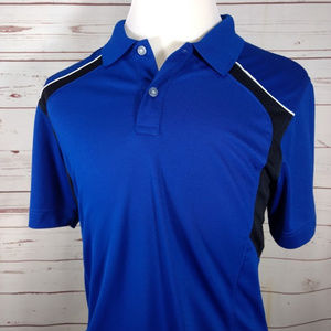 Callaway X Series 2 Tone Polyester Blue/Black Polo